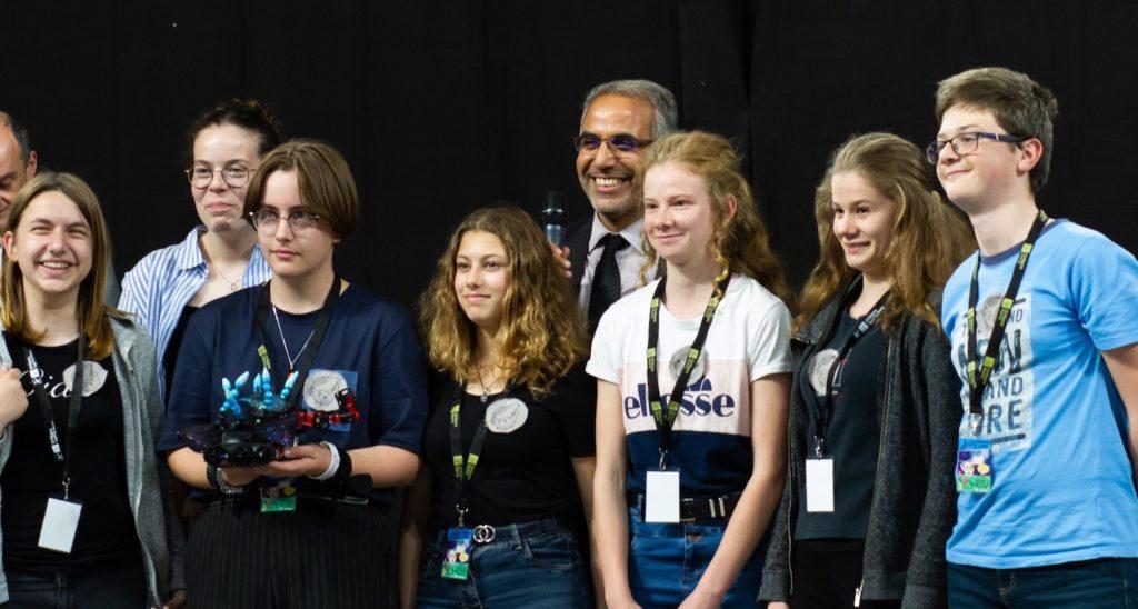 L'équipe lauréate concours de programmation Rabotique